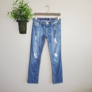 Vigoss Skinny Distressed Light Wash Stretch Jeans
